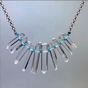Genuine Apatite & Crystal Quartz Necklace!